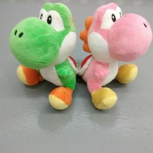 Two Yoshi Nintendo plush